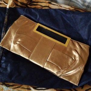 Gold Metallic Clutch Evening Bag